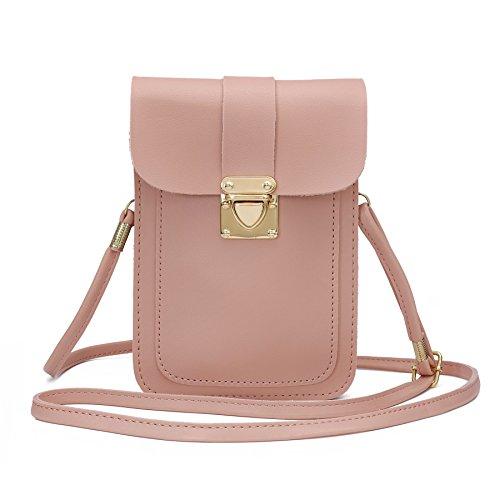 WOZEAH Crossbody Purse And Handbags Mini Cellphone Pouch Wallet Bag -
