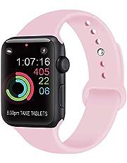 AK kompatibel mit für Apple Watch Armband 42mm 38mm 44mm 40mm, Weiche Silikon Sport Ersatz Armbänder kompatibel mit für iWatch Series 4, Series 3, Series 2, Series 1 (09 Teal, 38/40mm M/L)