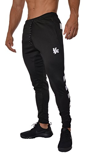 Pants Training Soccer (YoungLA Mens Soccer Training Pants Tapered fit 5 Colors Medium blk/wht)