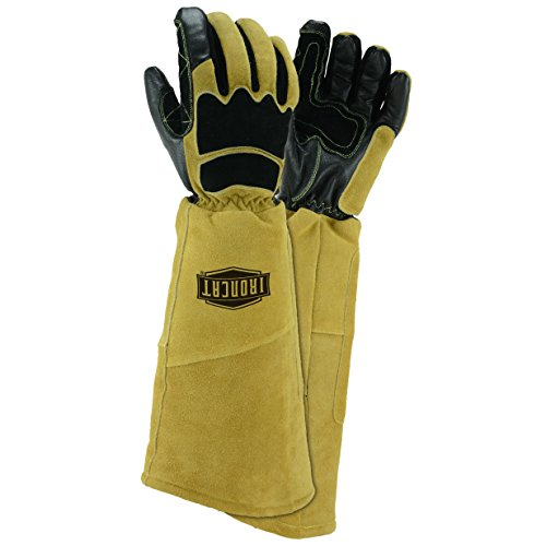 Price comparison product image IRONCAT 9070 Goat and Cow Stick Welding Gloves,  Large (Pack of 1 Pair)