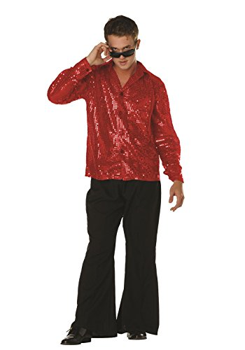 Disco Inferno Costumes (RG Costumes Disco Inferno Shirt, Red, Small (32-34))