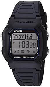 Casio Men's W800H-1AV Classic Sport Watch with Black Band