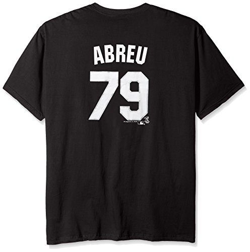 - Profile Big & Tall MLB Chicago White Sox Abreu #79 Men's Short Sleeved Two Sided High Density Name Number Tee, 3X, Black