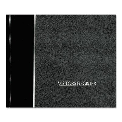 Visitor Register Book, Black Hardcover, 128 Pages, 8 1/2 x 9 7/8