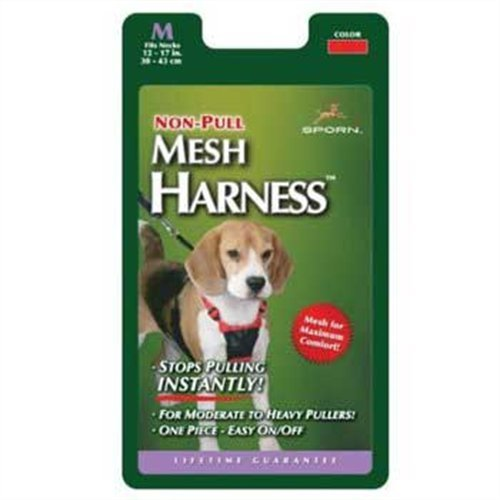 Sporn Non-Pulling Mesh Harness, Medium, Blue, My Pet Supplies