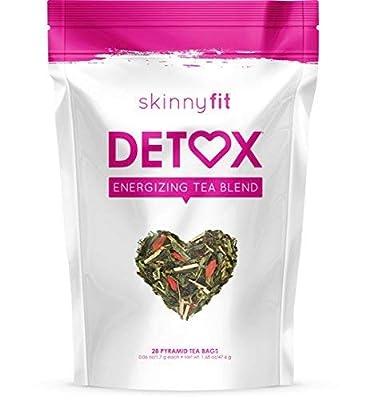 SkinnyFit Detox Tea: Cleanse w/All-Natural, Laxative-Free, Green Tea Leaves, Vegan, Gluten-Free, 28 Servings - Slimming Way to Release Toxins and Increase Energy w/Bonus Digital Welcome Guide