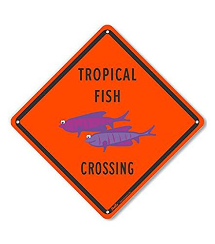 PetKa Signs and Graphics PKAC-0416-NP/_10x10Tropical Fish Crossing Plastic Sign 10 x 10
