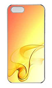 iPhone 5 5S Case Gorgeous Elegant Yellow PC Custom iPhone 5 5S Case Cover Transparent