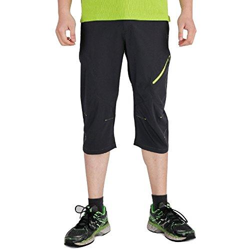スクラブネックレット切り刻むFAVORABLE SCENERY クロップドパンツ メンズ 7分丈 通気 吸汗 速乾 スポーツウェア アウトドアウェア 登山パンツ カジュアルパンツ