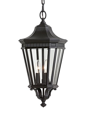 Lane Outdoor Pendant Cotswold (Feiss OL5411BK Cotswold Lane Outdoor Pendant Lantern, 3-Light, 180watts, Black (10
