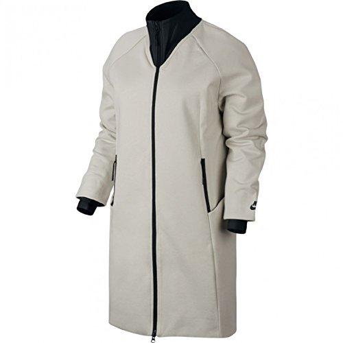 Nike Sportswear Tech Fleece Women's Jacket LIGHT BONE/BLACK (XLARGE) by NIKE