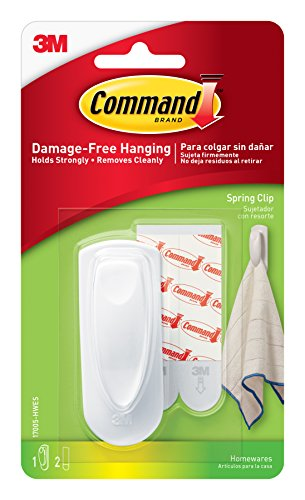 Command Spring Clip, Medium, 1-Clip, 4-Pack (4-Clips Total)