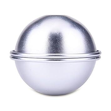HOUSWEETY 8PCs 4cm DIY Metal Bath Bomb Mold Small Size, Easy to Make Perfect Bath Bomb for Gift HOUSWEETYG114808