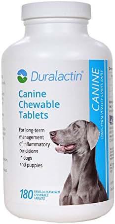 Duralactin 180 Count Chew Tablets, 1000mg, Vanilla Flavor
