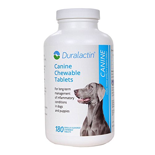 Duralactin 180 Count Chew Tablets, 1000mg, Vanilla Flavor (Dogs 180 Tablets)