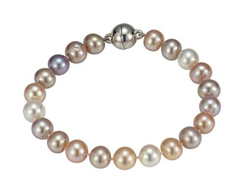 Adriana la Mia Perla-Bracelet Femme-Premium naturel Argent 925rhodié perle d'eau douce-19cm-PR7-62