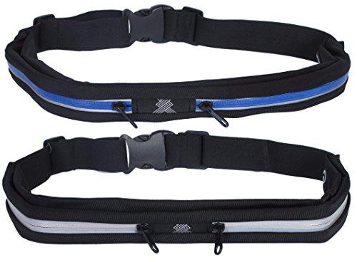 Cheap Xertia Slim Waist Pack Running Belt 2 Pack, Grey & Blue