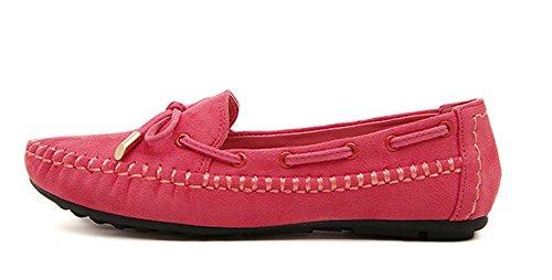 Aisun Damen Schleifen Suede Flach Weiche Sohle Slipper Bootsschuhe Mokassins:  Amazon.de: Schuhe & Handtaschen