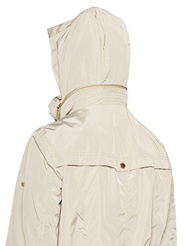 Taillentunnelzug Umklappbarer LAURA Natur GINA Femme 22 Kragen Jacke Beige Blouson pqayZ1Efw