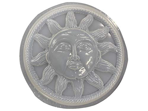 Round Sun with Rope Border Concrete Plaster Stepping Stone Mold 7035 -