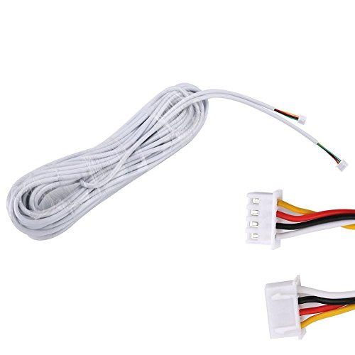 Doorbell Phone - MOUNTAINONE 15M 2.544P 4-core wire cable for video intercom Color Video Door Phone doorbell wired Intercom cable
