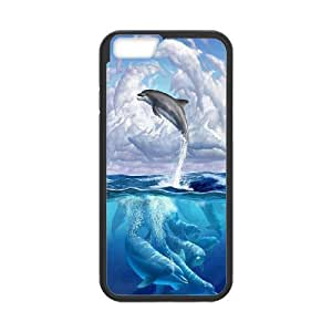 JamesBagg Phone case Love dolphins,cute dolphin pattern For Apple Iphone 6 Plus 5.5 inch screen Cases FHYY442229