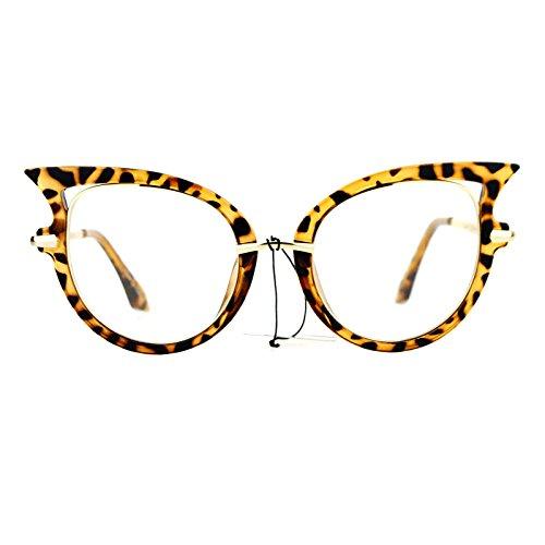 SA106 Womens Bat Wing Shape Cat Eye Clear Lens Eye Glasses - Sunglasses Wing