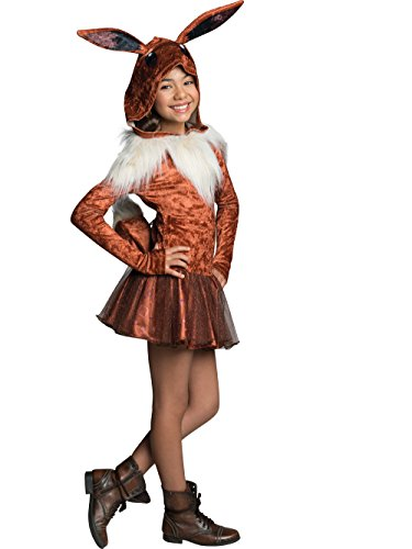 Rubie's Costume Pokemon Eevee Child Hooded Costume Dress Costume, Large ()