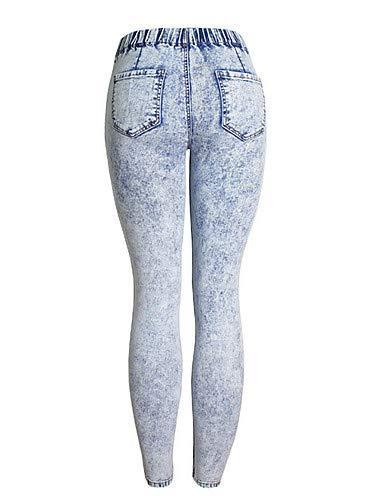 Unie Femme Slim Couleur Haute Taille YFLTZ Blue Jeans U8qT7