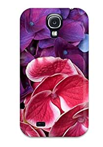 Cute High Quality Galaxy S4 Purple Pink Blue Tropical Flowers Case