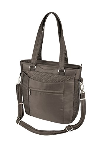 Travelon Anti-Theft Tote With Stitching, Truffle, One Size