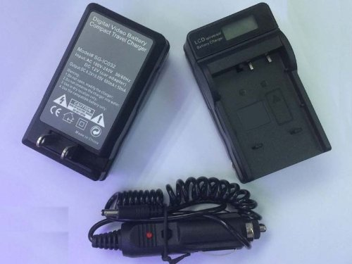 IA-BP125A Battery Charger with LCD display for Samsung HMX-Q10 Q10UN/XAA Q10BN/XAA M20 M20BN QF20 Q20 HD Camcorder