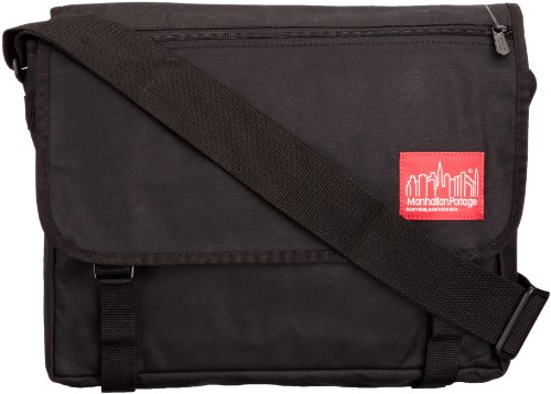 Manhattan Portage Waxed Canvas Europa Messenger Bag, Black by Manhattan Portage