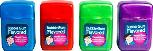 Plak Smacker Bubble Gum Flavored Floss, 15 yds - 4 pack
