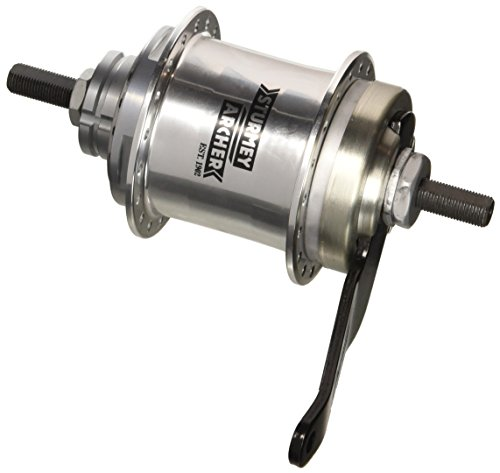 Sturmey Archer S2C Kick-Shift Hub Kit 36h 116mm Silver with Coaster Brake ()