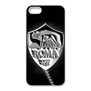 Plastic Case Zqelyu iPhone 5, 5S Cell Phone Case White As Roma Logo Generic Design Back Case Cover