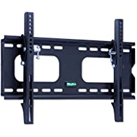 Mount-It! MI-318S Low-Profile Tilting TV Wall Mount Bracket For 23 To 37 inch LCD, LED, OLED, 4K Or Plasma Flat Screen TVs 175 Lbs Capacity, 1.5 Inch Profile, Max VESA 400x300