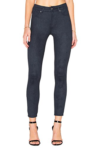 7 For All Mankind Women's High Waist Ankle Skinny Snake Print Stretch Jeans (Navy, 32) by 7 For All Mankind