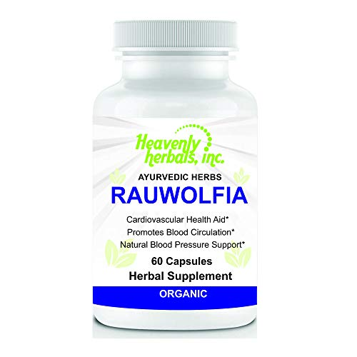Rauwolfia Capsules, Organic Herbal Supplement - Rauvolfia Serpentina Blend | Ayurvedic Herb & Natural Remedy | Natural Blood Pressure Support, Cardiovascular Health Aid- 60 Ct. by Heavenly
