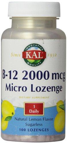 KAL B-12 2000 Lemon Tablets, 2000 mcg, 100 Count For Sale