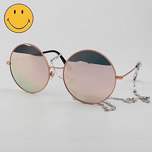los de redondas Big gafas de larga hombres de sol gafas Box box cara Powder reflexivas polarizadas la de VVIIYJ negra caja femeninas sol XSdxEaTTqw