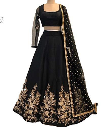 REKHA Ethinc Shop Latest Bridal Indian Designer Lehenga Choli with Dupatta A377 Black