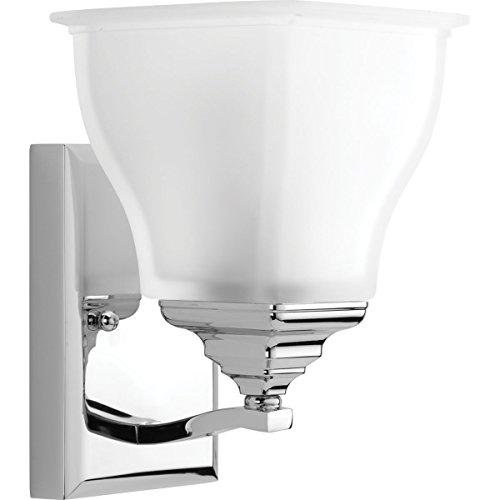 Progress Lighting P2175-15 1-100W Medium Base Bath Bracket, Polished Chrome ()