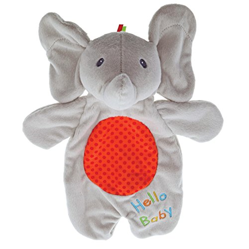 """Elephant Lovey Plush Stuffed Animal Blanket and Puppet, 11.5"""" (Baby Gund Puppets)"""
