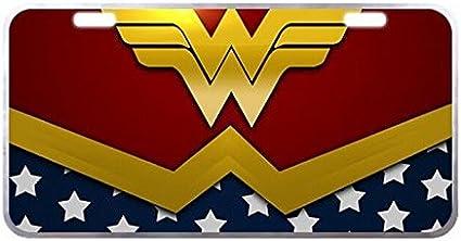 Wonder Woman Vanity Metal Car License Plate Design Custom Car Tag