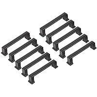 Handgrepen, 96 mm, zwart, voor kast, keuken, meubels (gatafstand: 96 mm)