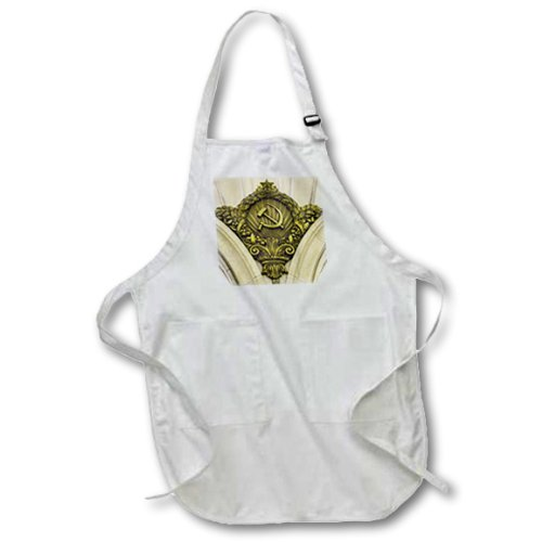 apr_82533_2 Danita Delimont - Russia - Russia, Moscow, Paveletskaya, Hammer and Sickle - EU26 IHO0205 - Inger Hogstrom - Aprons - Medium Length Apron with Pouch Pockets 22w x 24l