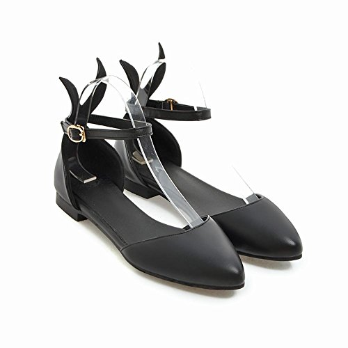 Strap Black Ankle Women's Shoes Dolly Shoes Mee Court Buckle 1BSqHFxZ