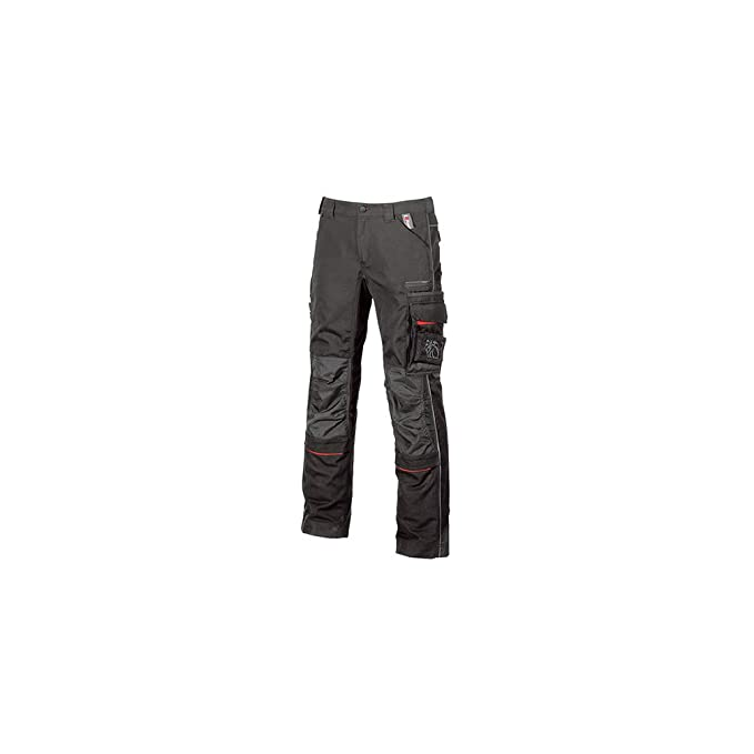 87dbafc73f87f U POWER Pantaloni da Uomo Drift Black Carbon  Amazon.it  Abbigliamento