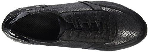 schwarz 45 granit schwarz Basses Femme D1807 Remonte schwarz Noir Baskets xTSzZ8qwz